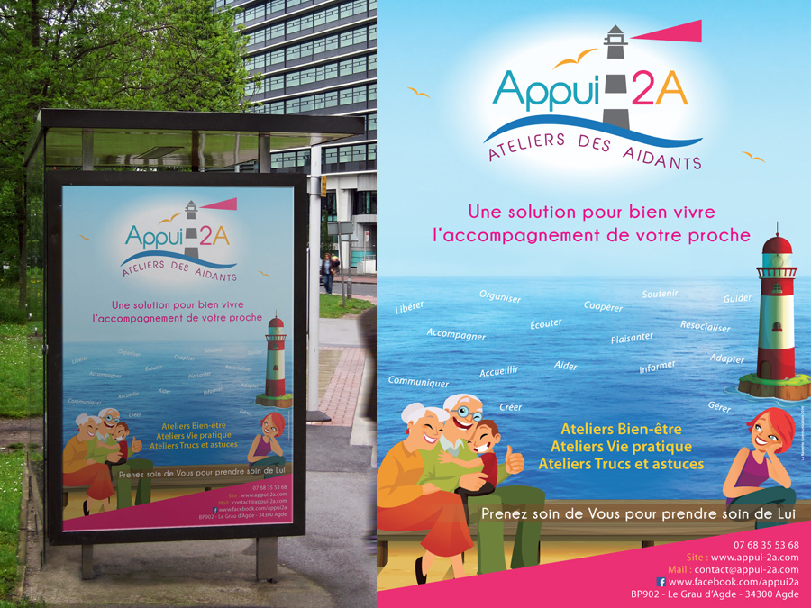 affiche, graphiste, agde, association, flyer, logo