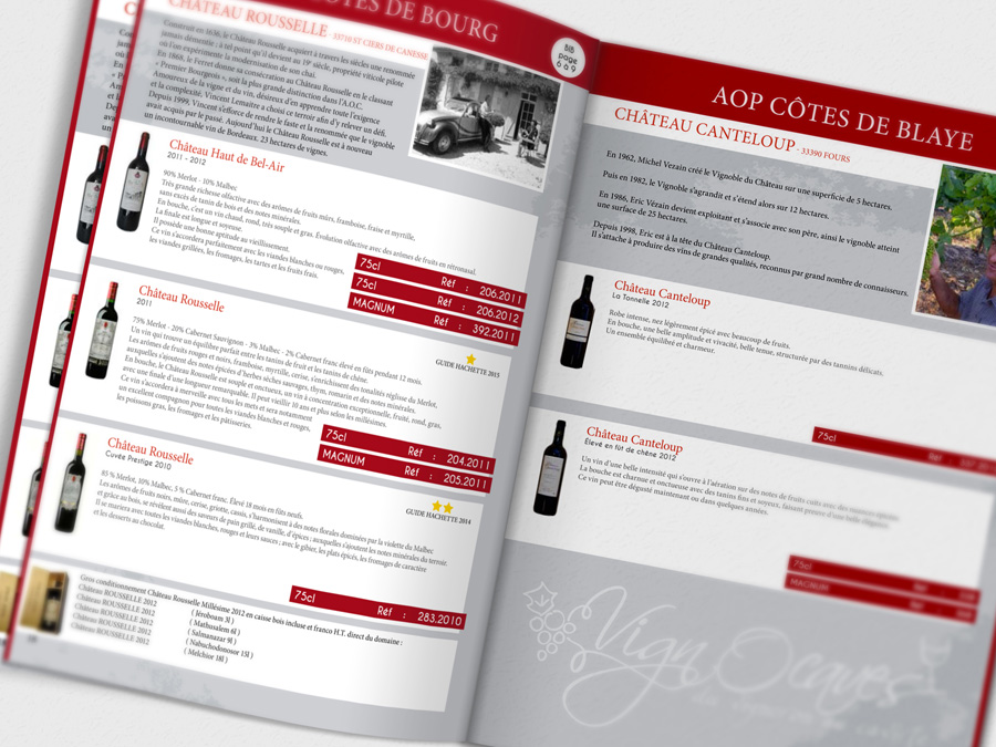 catalogue, vignocaves, caviste, référence, graphiste, france